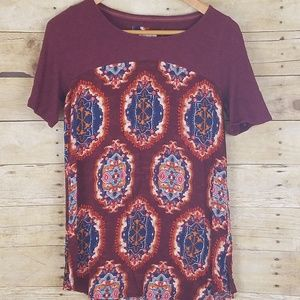 Anthropologie Meadow Rue cotton top Small